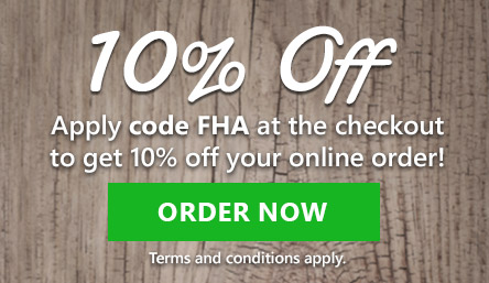 pizza bank 10% discount! Use code FHA at the checkout